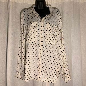 KUT FROM THE CLOTH POLKA DOT BUTTON UP BLOUSE
